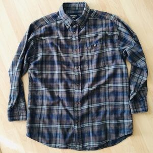 Smith's Workwear Plaid Cotton Flannel LS Shirt L